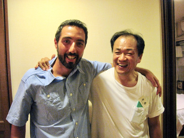 Robert with acupuncture master Taniuchi Sensei at his clinic in Tokyo in 2006